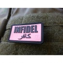JTG - Infidel Patch, pink-black / 3D Rubber patch
