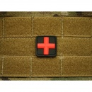 JTG - RedCross Medic Patch 25mm, blackmedic / 3D Rubber...
