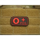 JTG - Blutgruppen Patch 0 POS, blackmedic / 3D Rubber patch
