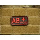 JTG - Blutgruppen Patch AB POS, blackmedic / 3D Rubber patch