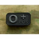 JTG - Blutgruppen Patch 0 POS, blackops / 3D Rubber patch
