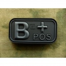 JTG - Blutgruppen Patch B POS, blackops / 3D Rubber patch