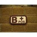 JTG - Blutgruppen Patch B POS, desert / 3D Rubber patch