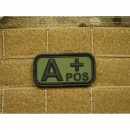 JTG - Blutgruppen Patch A POS, forest / 3D Rubber patch