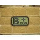 JTG - Blutgruppen Patch B POS, forest / 3D Rubber patch