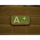 JTG - Blutgruppen Patch A POS, multicam / 3D Rubber patch