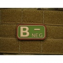 JTG - Blutgruppen Patch B NEG, multicam / 3D Rubber patch