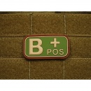 JTG - Blutgruppen Patch B POS, multicam / 3D Rubber patch