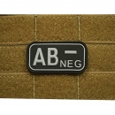 JTG - Blutgruppen Patch AB NEG, swat / 3D Rubber patch