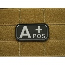 JTG - Blutgruppen Patch A POS, swat / 3D Rubber patch