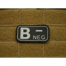 JTG - Blutgruppen Patch B NEG, swat / 3D Rubber patch