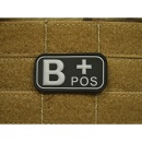 JTG - Blutgruppen Patch B POS, swat / 3D Rubber patch