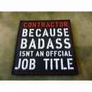 JTG  CONTRACTOR Patch, fullcolor / JTG 3D Rubber Patch