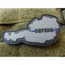JTG  DEFEND AUSTRIA Patch, Thin Blue Line, special...