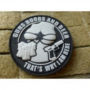 JTG - Guns Boobs and Beer Patch, swat / 3D Rubber patch