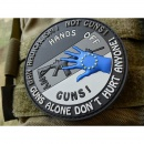 JTG  HANDS OFF MY GUN Deutschland Patch, grau / JTG 3D...