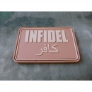 JTG - Infidel Patch Groß, desert / 3D Rubber patch