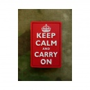 JTG - Keep Calm and Carry on - Patch, fullcolor / 3D...