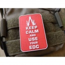 JTG  Keep Calm and use your EDC Patch, fullcolor / JTG 3D...