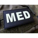 JTG - MED Patch, gid (glow in the dark) / 3D Rubber patch