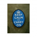 JTG - Keep Calm and Carry on - Oval Patch, blue / 3D...