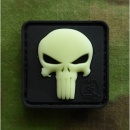 JTG - Punisher Patch, gid (glow in the dark) / 3D Rubber...