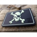 JTG - Pirate Skull Patch, gid (glow in the dark) / JTG 3D...