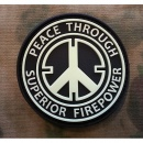 JTG - Peace Patch, gid (glow in the dark) / 3D Rubber patch