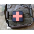 JTG - RedCross Medic Patch, 50mm, blackmedic / 3D Rubber...