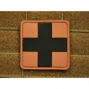 JTG - RedCross Medic Patch, desert-black / 3D Rubber patch