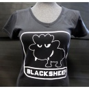JTG - Little BlackSheep Lady T-Shirt, V-Neck, black -...