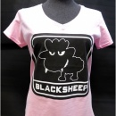 JTG - Little BlackSheep Lady T-Shirt, V-Neck, light pink...