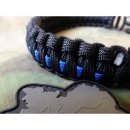 JTG Paracord Armband - Thin Blue Line - mit Bent Buckle...