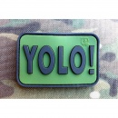JTG - YOLO (You Only Live Once) Patch, forest / 3D Rubber...