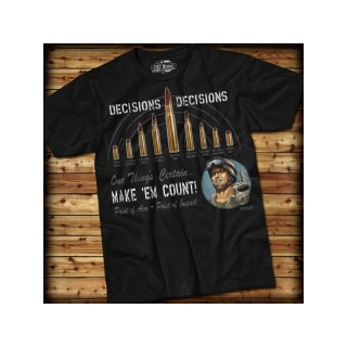 7.62 Design - Decisions, Decisions - T-Shirt, black - Größe: S