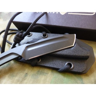 EXTREMA RATIO N.K.3 NECKKNIFE, black  / Special SPAEHER First on Field, custom edition