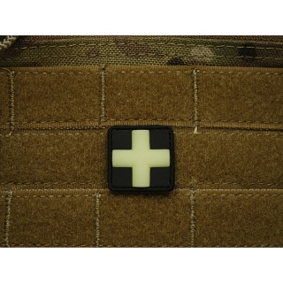 JTG - RedCross Medic Patch 25mm, gid (glow in the dark) / 3D Rubber patch