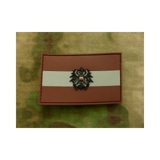 JTG - Österreich Flagge - Patch, darkdesert / 3D Rubber patch