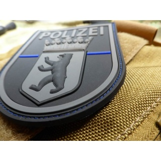 JTG  Ärmelabzeichen  Polizei Berlin, blackops, Thin Blue Line, special edition / JTG 3D Rubber Patch