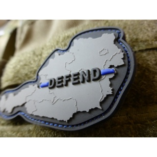 JTG  DEFEND AUSTRIA Patch, Thin Blue Line, special edition / JTG 3D Rubber Patch