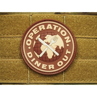 JTG - Operation Diner Out Patch, desert-chocolat / 3D Rubber patch