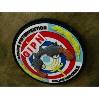 JTG - Groupe d Intervention Police Nationale Patch, fullcolor / 3D Rubber patch