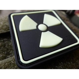 JTG - H3 Radioaktiv Patch, gid (glow in the dark) / 3D Rubber patch