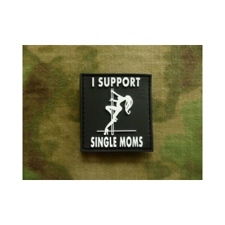 JTG - I Support Single Moms Patch, schwarz-weiss / 3D Rubber patch