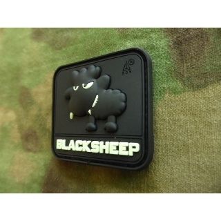 JTG - Little BlackSheep Patch, gid (glow in the dark) / 3D Rubber patch