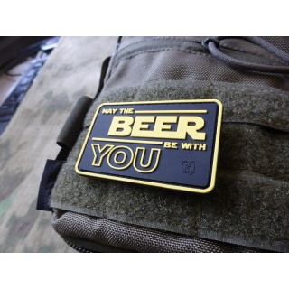 JTG  May The BEER Be With YOU Patch, fullcolor / JTG 3D Rubber Patch
