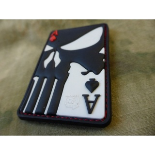 JTG  Punisher Ace Of Spades Patch, fullcolor / JTG 3D Rubber Patch
