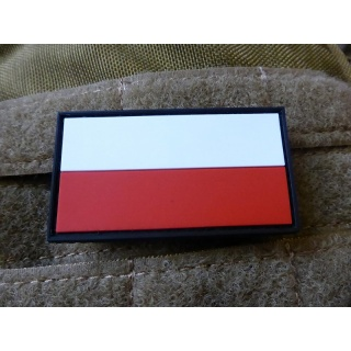 JTG - Polnische Flagge - Patch, fullcolor / 3D Rubber patch