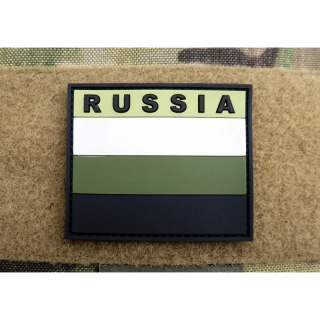 JTG - Russland Flagge - Patch, subbed green / 3D Rubber patch