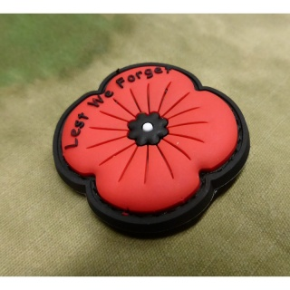 JTG - Remembrance Poppy Patch / 3D Rubber patch